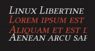 Linux Libertine Capitals Italic