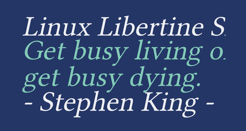 Linux Libertine Slanted