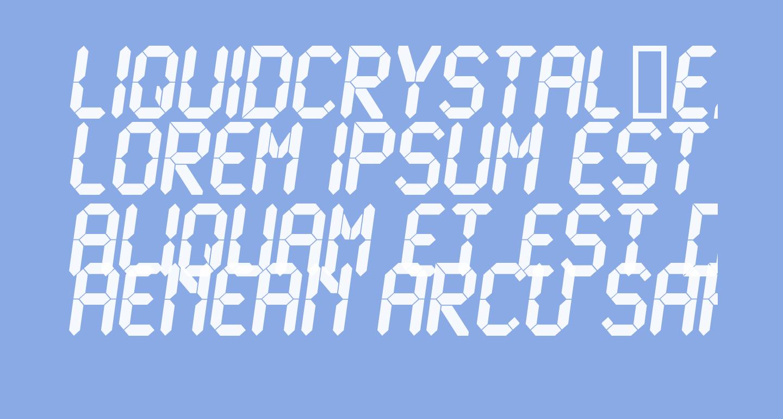 LiquidCrystal-ExtraBoldItalic