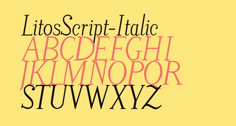 LitosScript-Italic