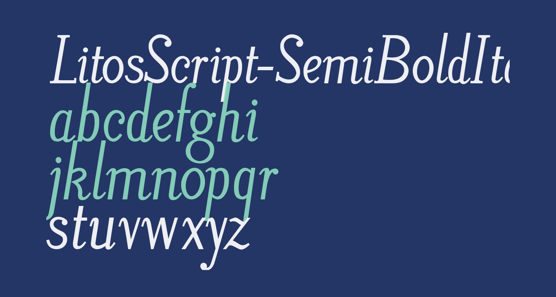 LitosScript-SemiBoldItalic