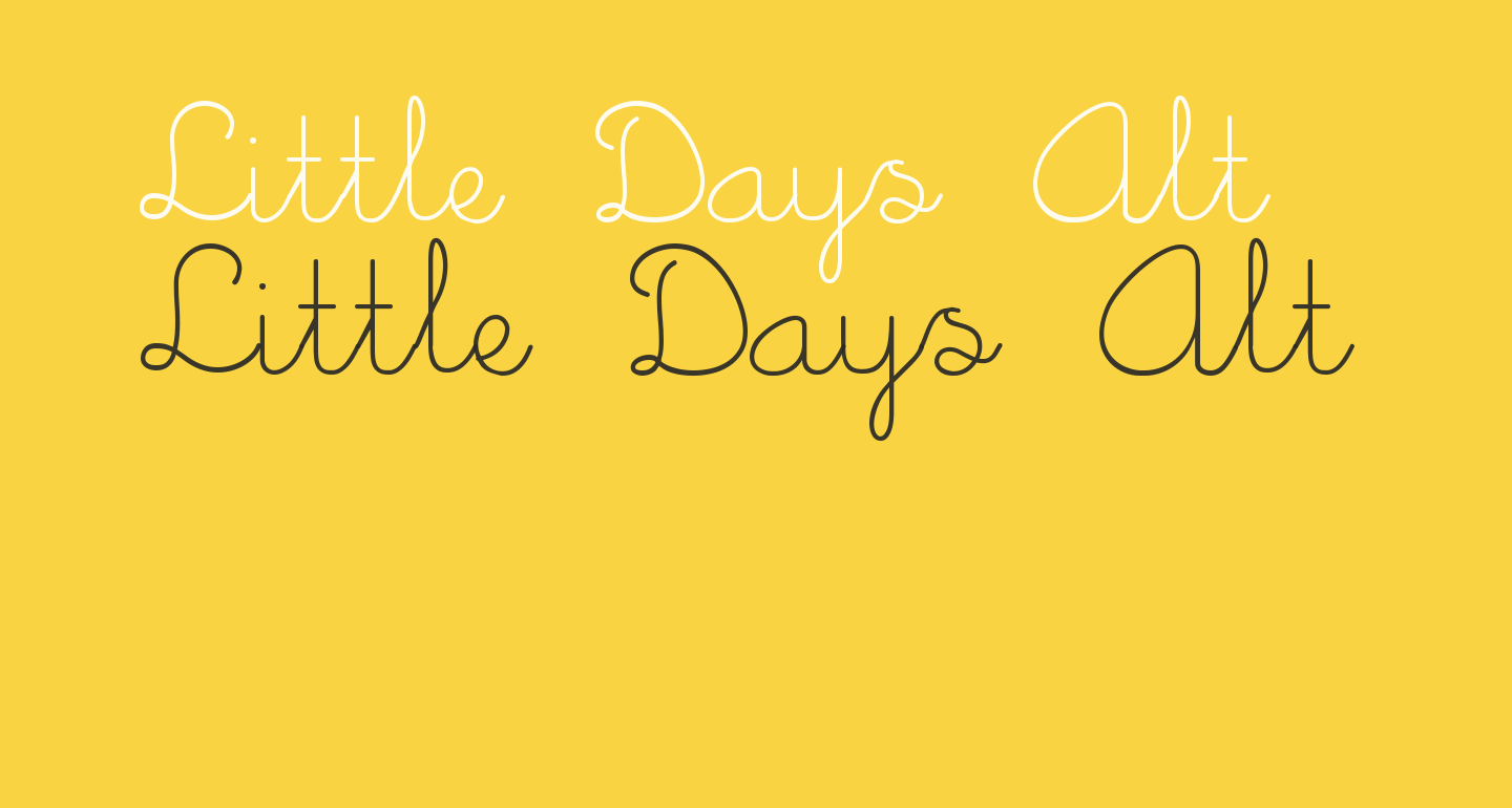 Little Days Alt