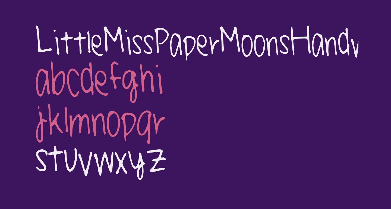 LittleMissPaperMoonsHandwriting