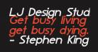 LJ Design Studios IS Bold Italic
