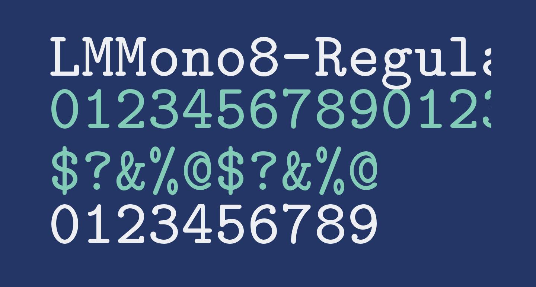 LMMono8-Regular