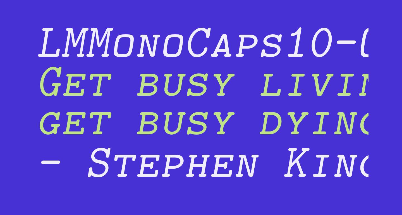 LMMonoCaps10-Oblique