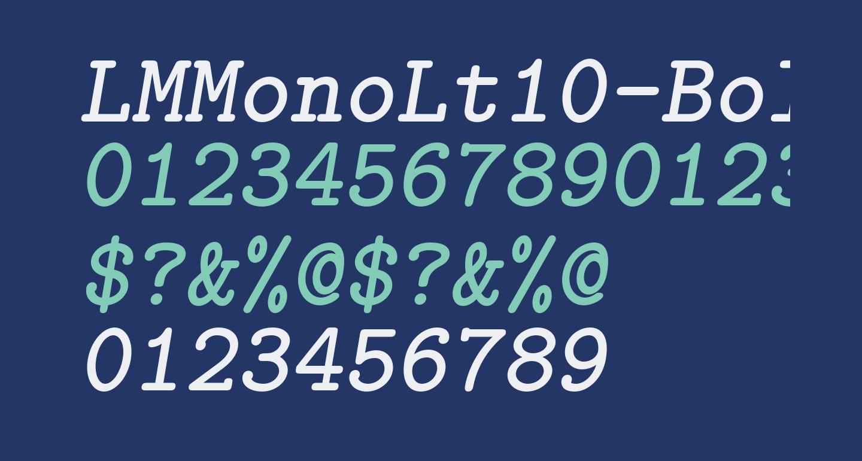 LMMonoLt10-BoldOblique