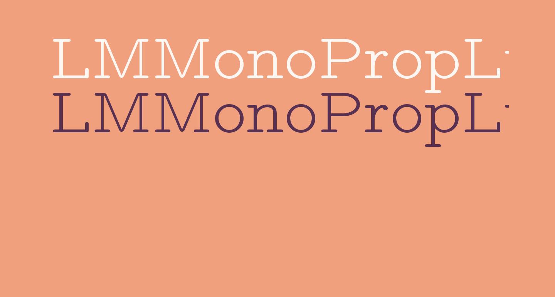 LMMonoPropLt10-Regular