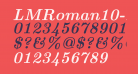 LMRoman10-BoldItalic