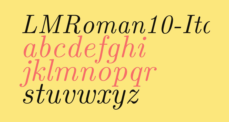 LMRoman10-Italic