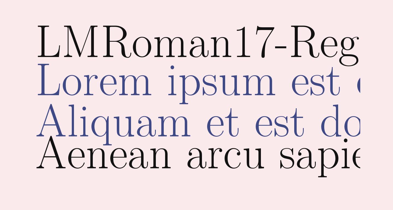 LMRoman17-Regular