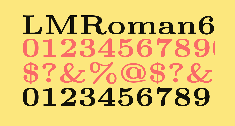 LMRoman6-Bold