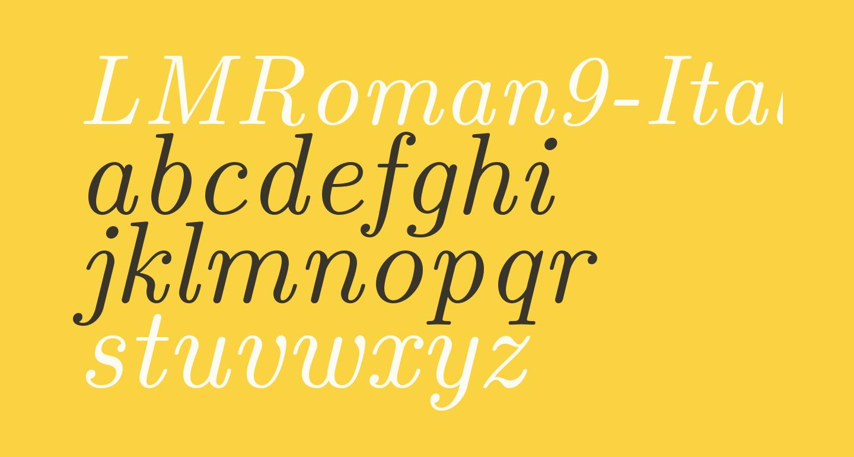 LMRoman9-Italic