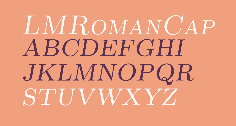 LMRomanCaps10-Oblique
