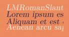 LMRomanSlant9-Regular