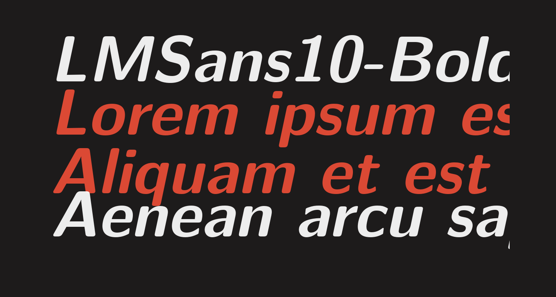 LMSans10-BoldOblique
