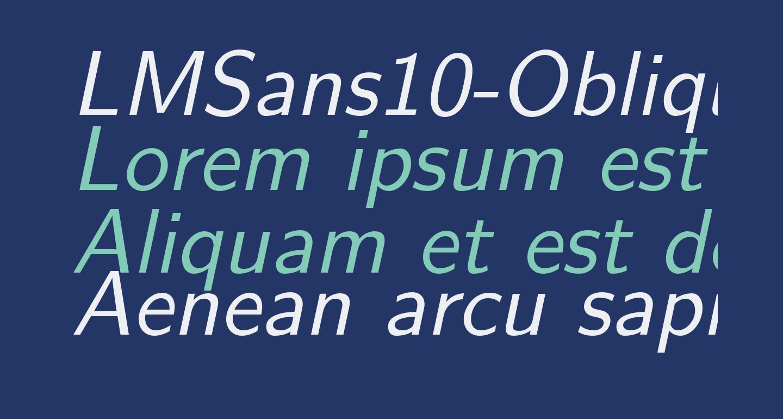 LMSans10-Oblique