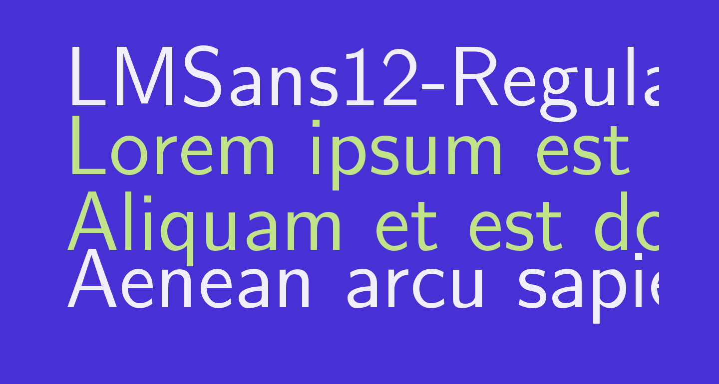 LMSans12-Regular
