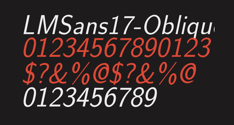 LMSans17-Oblique