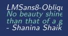 LMSans8-Oblique