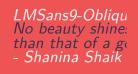 LMSans9-Oblique