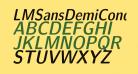 LMSansDemiCond10-Oblique