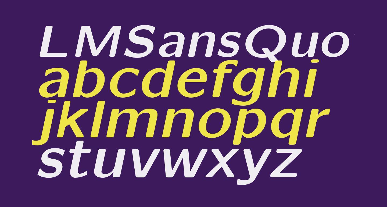 LMSansQuot8-BoldOblique