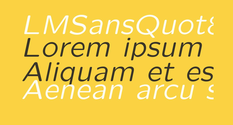 LMSansQuot8-Oblique