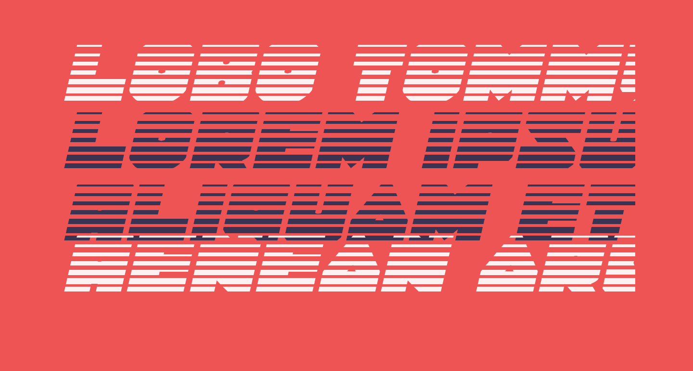 Lobo Tommy Gradient Italic
