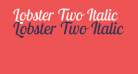 Lobster Two Italic