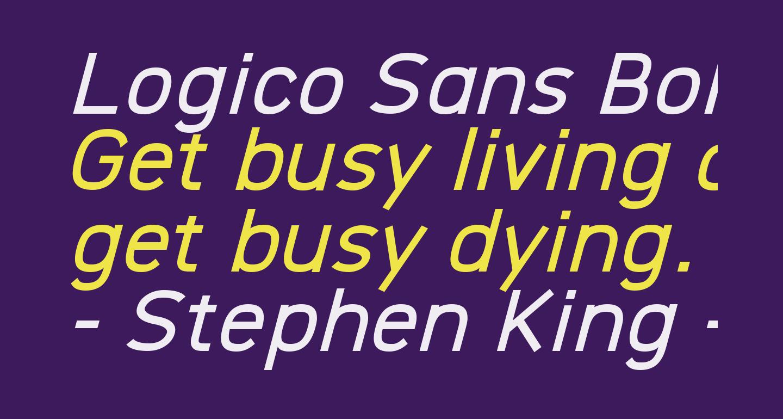 Logico Sans Bold Italic