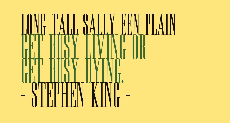Long Tall Sally EEN Plain