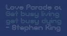 Love Parade outline Bold