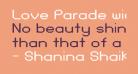 Love Parade widebold