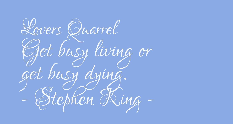 Lovers Quarrel