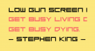 Low Gun Screen Bold Expanded