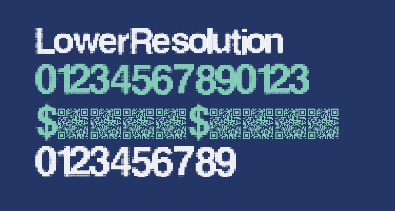 LowerResolution