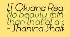 LT Oksana Regular Italic