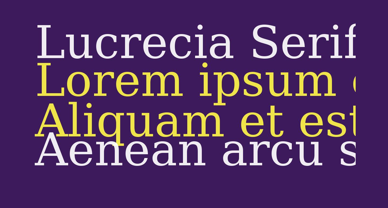 Lucrecia Serif