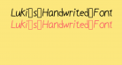 Luki_s_Handwrited_Font