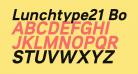 Lunchtype21 Bold Italic