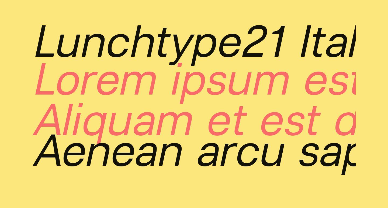 Lunchtype21 Italic