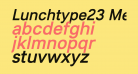 Lunchtype23 Medium Italic