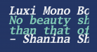 Luxi Mono Bold Oblique