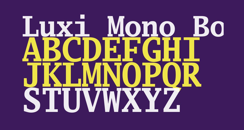 Luxi Mono Bold
