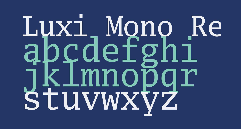 Luxi Mono Regular