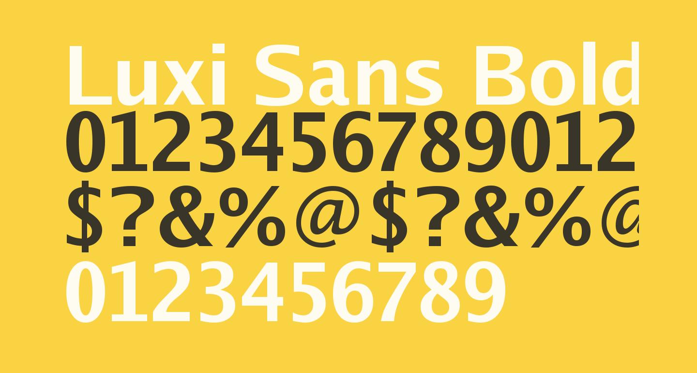 Luxi Sans Bold