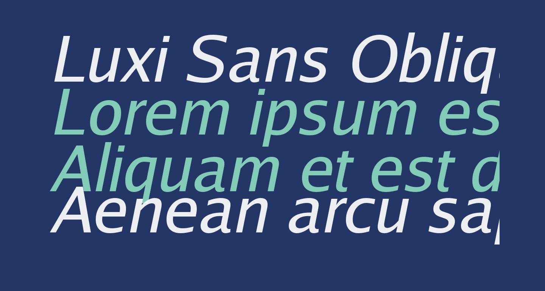 Luxi Sans Oblique