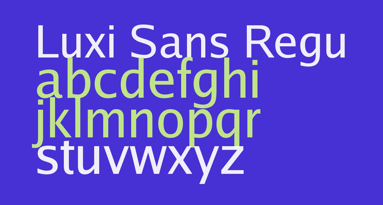 Luxi Sans Regular