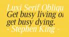 Luxi Serif Oblique